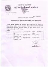 notice correction tender of huim pipe and Polls